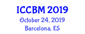International Conference on Civil and Building Materials (ICCBM) October 24, 2019 - Barcelona, Spain