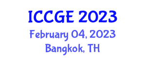 International Conference on Civil and Geological Engineering (ICCGE) February 04, 2023 - Bangkok, Thailand