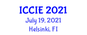 International Conference on Civil and Infrastructure Engineering (ICCIE) July 19, 2021 - Helsinki, Finland