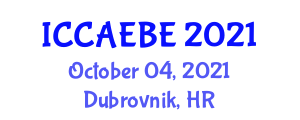 International Conference on Civil, Architectural, Environmental and Building Engineering (ICCAEBE) October 04, 2021 - Dubrovnik, Croatia