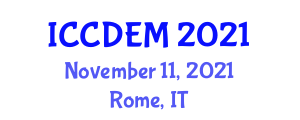 International Conference on Civil Defence and Emergency Management (ICCDEM) November 11, 2021 - Rome, Italy