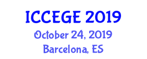 International Conference on Civil, Environmental and Geological Engineering (ICCEGE) October 24, 2019 - Barcelona, Spain