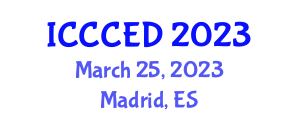 International Conference on Climate Change and Energy Development (ICCCED) March 25, 2023 - Madrid, Spain