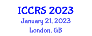 International Conference on Cloud Robotic Systems (ICCRS) January 21, 2023 - London, United Kingdom