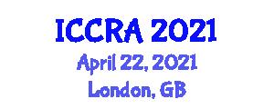 International Conference on Cloud Robotics and Automation (ICCRA) April 22, 2021 - London, United Kingdom