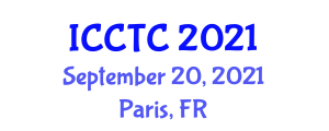 International Conference on Coding Theory and Cryptology (ICCTC) September 20, 2021 - Paris, France