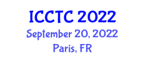 International Conference on Coding Theory and Cryptology (ICCTC) September 20, 2022 - Paris, France