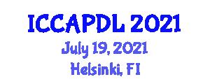 International Conference on Cognitive, Affective and Psychomotor Domains of Learning (ICCAPDL) July 19, 2021 - Helsinki, Finland