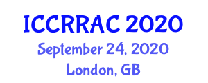 International Conference on Cognitive Robotics and Robotic Action Control (ICCRRAC) September 24, 2020 - London, United Kingdom