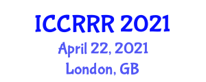 International Conference on Cognitive Robotics, Reasoning and Representation (ICCRRR) April 22, 2021 - London, United Kingdom