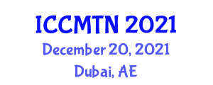 International Conference on Collaborative Mapping Technologies and Neogeography (ICCMTN) December 20, 2021 - Dubai, United Arab Emirates