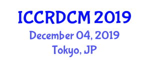 International Conference on Collective Robotics, Design, Control and Modeling (ICCRDCM) December 04, 2019 - Tokyo, Japan