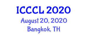 International Conference on Combinatorial Chemistry and Libraries (ICCCL) August 20, 2020 - Bangkok, Thailand