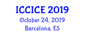 International Conference on Communication, Information and Computer Engineering (ICCICE) October 24, 2019 - Barcelona, Spain