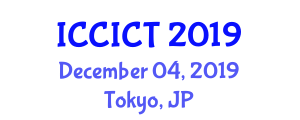 International Conference on Communication, Information and Computing Technology (ICCICT) December 04, 2019 - Tokyo, Japan