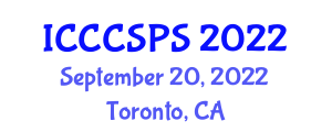 International Conference on Complex Computer Systems, Programming and Security (ICCCSPS) September 20, 2022 - Toronto, Canada