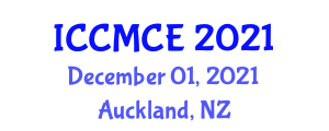 International Conference on Computational Modeling in Chemical Engineering (ICCMCE) December 01, 2021 - Auckland, New Zealand