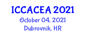 International Conference on Computer-Aided Construction Engineering and Applications (ICCACEA) October 04, 2021 - Dubrovnik, Croatia