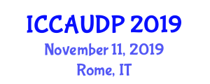 International Conference on Computer-Aided Urban Design and Planning (ICCAUDP) November 11, 2019 - Rome, Italy