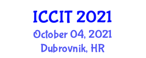 International Conference on Computer and Internet Technology (ICCIT) October 04, 2021 - Dubrovnik, Croatia