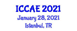International Conference on Computer Architecture Engineering (ICCAE) January 28, 2021 - Istanbul, Turkey