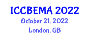 International Conference on Computer-Based Energy Management and Applications (ICCBEMA) October 21, 2022 - London, United Kingdom