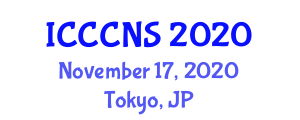 International Conference on Computer Communications and Networks Security (ICCCNS) November 17, 2020 - Tokyo, Japan