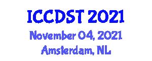 International Conference on Computer Data Storage Technologies (ICCDST) November 04, 2021 - Amsterdam, Netherlands