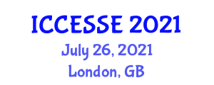 International Conference on Computer, Electrical and Systems Sciences, and Engineering (ICCESSE) July 26, 2021 - London, United Kingdom
