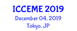 International Conference on Computer, Electronics and Mechatronics Engineering (ICCEME) December 04, 2019 - Tokyo, Japan
