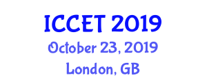 International Conference on Computer Engineering and Technology (ICCET) October 23, 2019 - London, United Kingdom