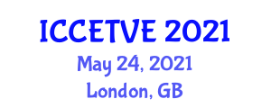 International Conference on Computer Entertainment Technology and Virtual Environments (ICCETVE) May 24, 2021 - London, United Kingdom