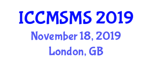 International Conference on Computer Modelling and Simulation in Materials Science (ICCMSMS) November 18, 2019 - London, United Kingdom
