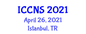 International Conference on Computer Network and Security (ICCNS) April 26, 2021 - Istanbul, Turkey