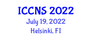International Conference on Computer Networks and Security (ICCNS) July 19, 2022 - Helsinki, Finland