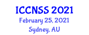 International Conference on Computer Networks and Systems Security (ICCNSS) February 25, 2021 - Sydney, Australia