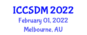 International Conference on Computer Science and Data Mining (ICCSDM) February 01, 2022 - Melbourne, Australia