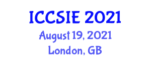 International Conference on Computer Science and Information Engineering (ICCSIE) August 19, 2021 - London, United Kingdom