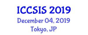 International Conference on Computer Science and Intelligent Systems (ICCSIS) December 04, 2019 - Tokyo, Japan