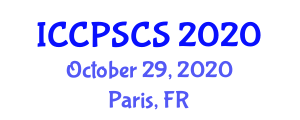 International Conference on Computer Security in Computer Science (ICCPSCS) October 29, 2020 - Paris, France