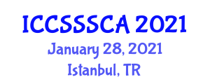 International Conference on Computer Security, Security Systems and Cryptology Applications (ICCSSSCA) January 28, 2021 - Istanbul, Turkey