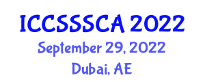 International Conference on Computer Security, Security Systems and Cryptology Applications (ICCSSSCA) September 29, 2022 - Dubai, United Arab Emirates