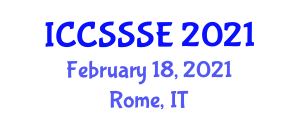 International Conference on Computer Security Software and Software Engineering (ICCSSSE) February 18, 2021 - Rome, Italy