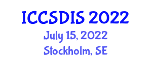 International Conference on Computer Systems Design and Information Security (ICCSDIS) July 15, 2022 - Stockholm, Sweden