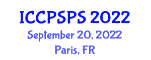 International Conference on Computer Systems, Programming and Security (ICCPSPS) September 20, 2022 - Paris, France