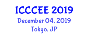 International Conference on Computers, Communications and Electronics Engineering (ICCCEE) December 04, 2019 - Tokyo, Japan