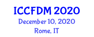 International Conference on Computers in Food Design and Manufacturing (ICCFDM) December 10, 2020 - Rome, Italy