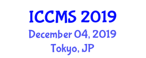 International Conference on Computing and Mathematical Sciences (ICCMS) December 04, 2019 - Tokyo, Japan
