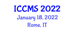 International Conference on Configuration Management and Security (ICCMS) January 18, 2022 - Rome, Italy