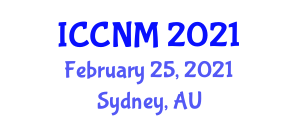 International Conference on Conflicts in Neogeography Maps (ICCNM) February 25, 2021 - Sydney, Australia